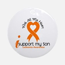 With All My Heart Leukemia Ornament (Round)