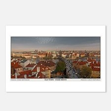 Old Town Prague Pano Postcards (Package of 8)
