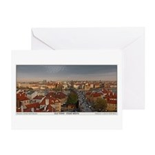 Old Town Prague Pano Greeting Card
