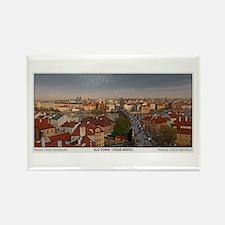 Old Town Prague Pano Rectangle Magnet
