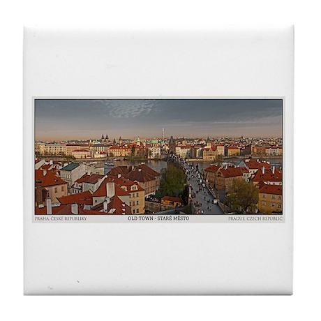 Old Town Prague Pano Tile Coaster