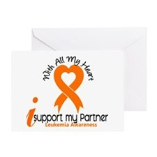 With All My Heart Leukemia Greeting Card