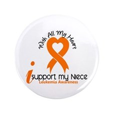 "With All My Heart Leukemia 3.5"" Button"