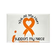 With All My Heart Leukemia Rectangle Magnet (100 p