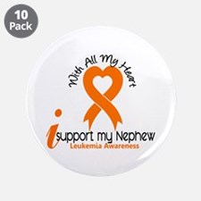 """With All My Heart Leukemia 3.5"""" Button (10 pack)"""