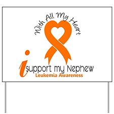 With All My Heart Leukemia Yard Sign
