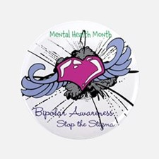 "Mental Health Month 3.5"" Button"