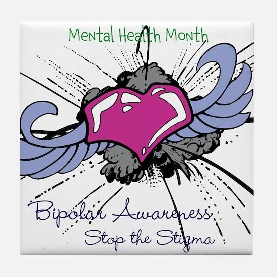 Mental Health Month Tile Coaster