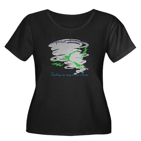 The Storm Women's Plus Size Scoop Neck Dark T-Shir