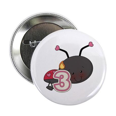 """3rd Birthday Ladybug 2.25"""" Button"""