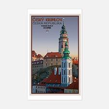 Cesky Krumlov Towers Sticker (Rectangle)