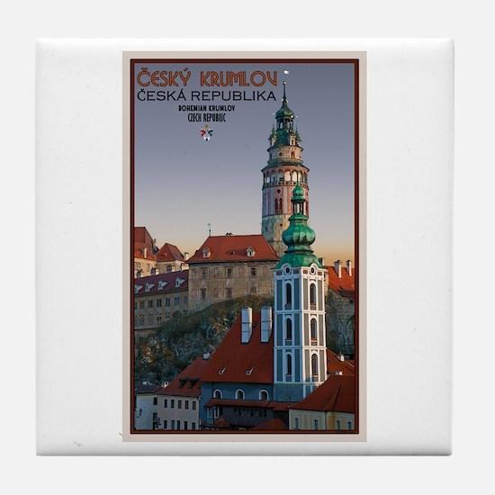 Cesky Krumlov Towers Tile Coaster