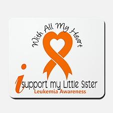 With All My Heart Leukemia Mousepad