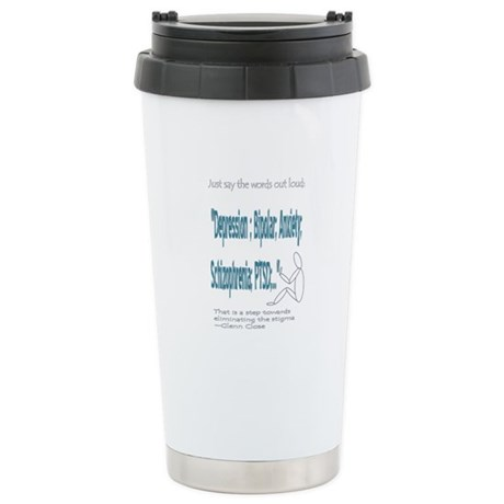 Quotes Stainless Steel Travel Mug