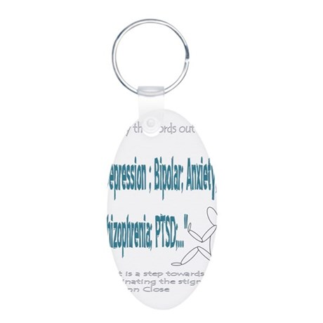 Quotes Aluminum Oval Keychain