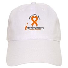 With All My Heart Leukemia Baseball Cap