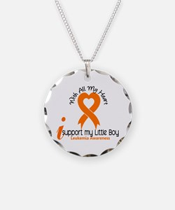 With All My Heart Leukemia Necklace