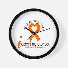 With All My Heart Leukemia Wall Clock