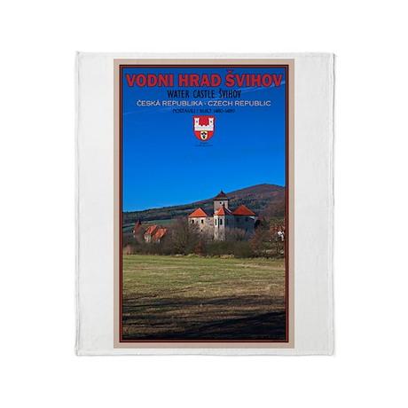 Svihov Castle Portrait Throw Blanket