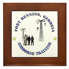Airborne Training - Ft Benning Framed Tile