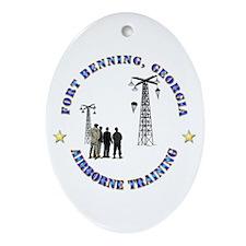 Airborne Training - Ft Benning Ornament (Oval)