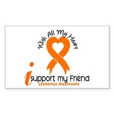 With All My Heart Leukemia Decal