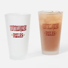 Ventriloquism Rules Drinking Glass
