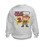 This Little Cowgirl Turned 2 Kids Sweatshirt