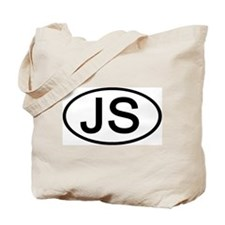 JS - Initial Oval Tote Bag