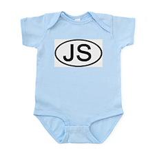 JS - Initial Oval Infant Creeper