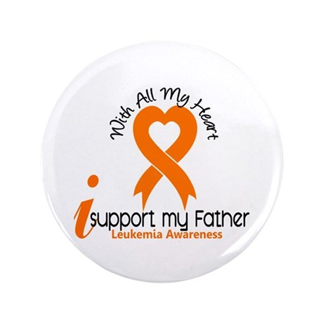 """With All My Heart Leukemia 3.5"""" Button"""