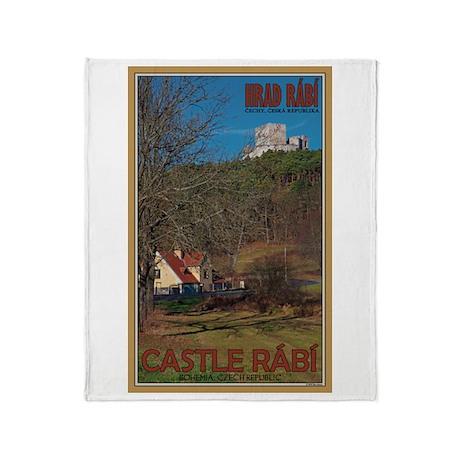 Castle Rabi above Trees Throw Blanket