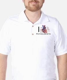 I (Heart) Pathologists Golf Shirt