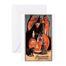 Halloween Witch Greeting Cards (Pk of 10)