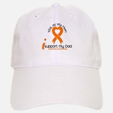 With All My Heart Leukemia Baseball Baseball Cap