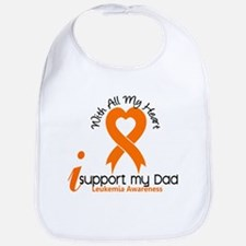 With All My Heart Leukemia Bib