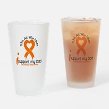 With All My Heart Leukemia Drinking Glass