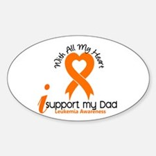 With All My Heart Leukemia Sticker (Oval)