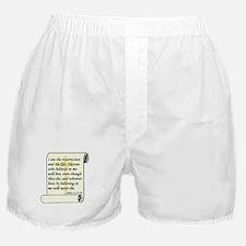 John 11:25-26 Boxer Shorts