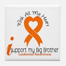 With All My Heart Leukemia Tile Coaster