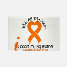 With All My Heart Leukemia Rectangle Magnet (10 pa