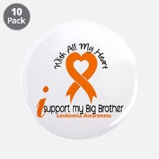 "With All My Heart Leukemia 3.5"" Button (10 pack)"