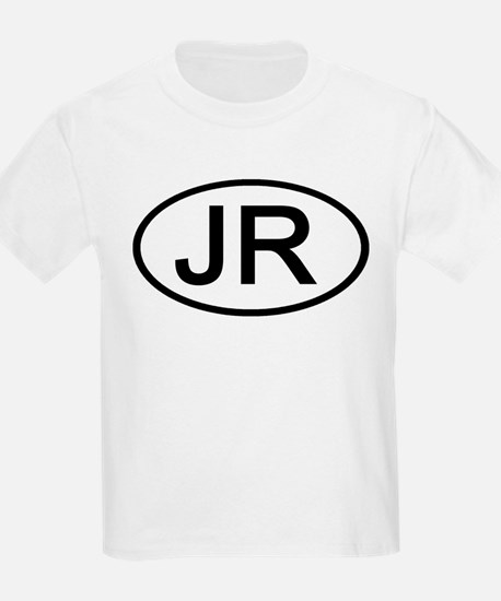 JR - Initial Oval Kids T-Shirt