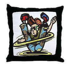 Street Dancing Artist Throw Pillow
