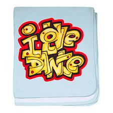 I Love Dance Logo baby blanket