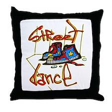 Street Dancer Throw Pillow