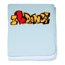 I Love Dance baby blanket