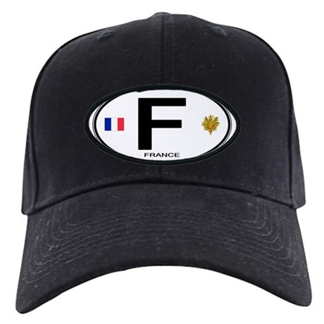 France Euro Oval Black Cap