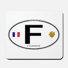 France Euro Oval Mousepad