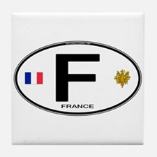 France Euro Oval Tile Coaster